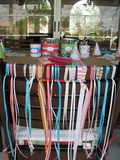 We used ribbons to decorate the special chair for the birthday girl.