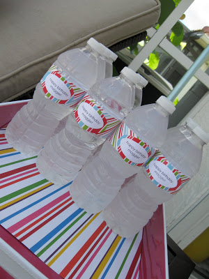 Water bottles look refreshing and fun with DIY labels.