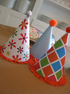 Easy DIY Party hats are super simple to make.