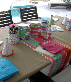 For the craft projects each child had their own apron and supplies at their work station.