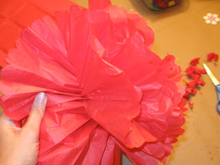 These tissue paper party puffs look festive and fun at any party.