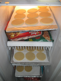 Chill the cookies in the freezer.