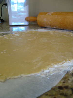 Parchment helps keep the cookie dough from sticking when your roll it out.