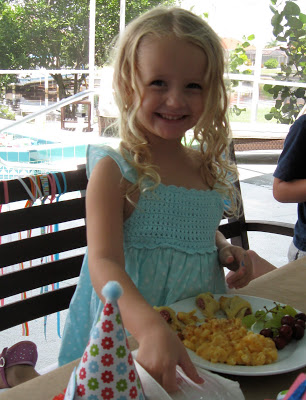 The birthday girl had a blast and loved the colorful, crafty party.