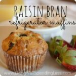 Raisin Bran Refrigerator Muffins--These are seriously the best bran muffins I have ever had! Whips up a huge batch of batter that can be stored in the refrigerator for up to 3 weeks to bake as needed on busy mornings! Yum!