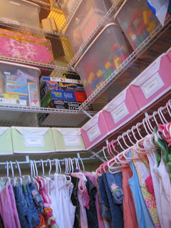 An organized kids closet and toys is a great way to manage life's chaos.