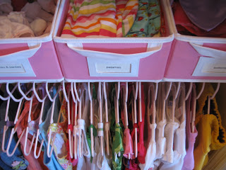Organizing your child's closet will create less stress.