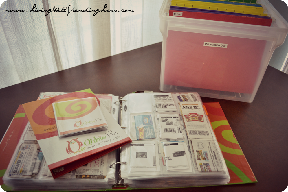 How to use the binder method to organize your coupons.