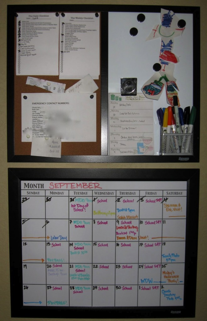 The family command center should always be organized - it's the perfect place to start with some cleaning up