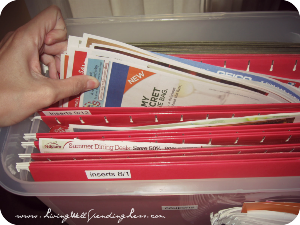 The filing system for organizing your coupons.