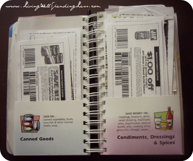 How to use a coupon binder to organize your coupons.