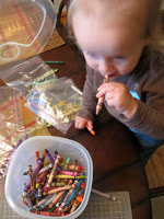 Young kids enjoy coloring with crayons and using different colors.