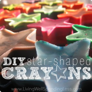DIY star shaped crayons make great gifts for little ones.