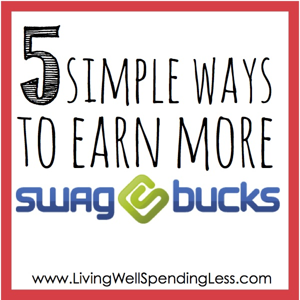 5 Simple Ways to Earn More Swagbucks. Are you using Swagbucks to earn free gift cards?  Be sure to check out these 5 simple tips to earn more rewards in less time!