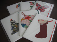 Beautiful handmade holiday cards.