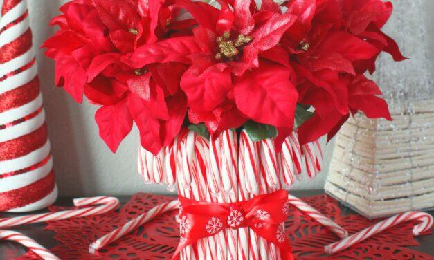 DIY Candy Cane Vase
