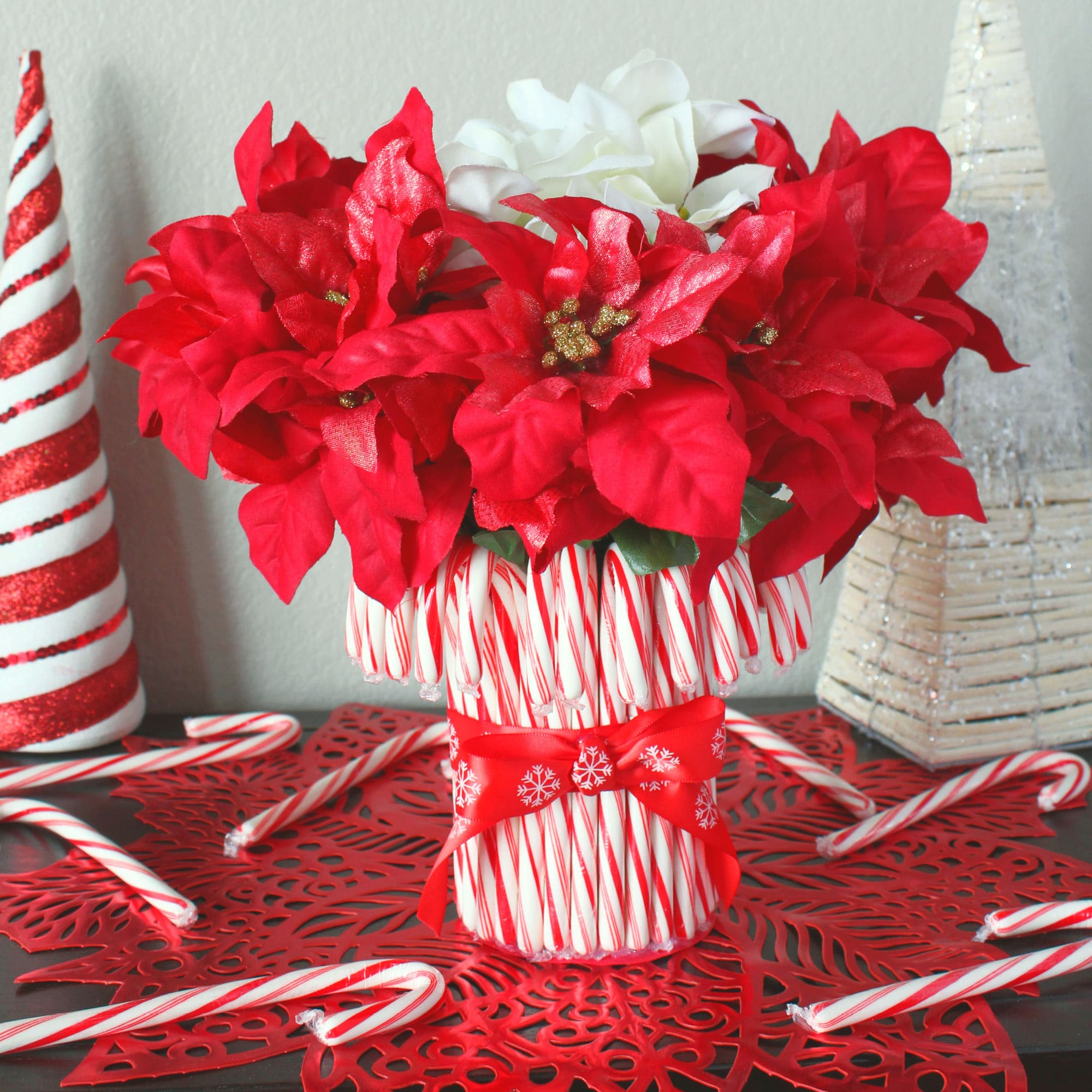Diy Candy Cane Vase Living Well Spending Less 174