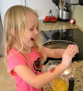 Kids will enjoy helping crack the eggs for this easy scramble recipe.