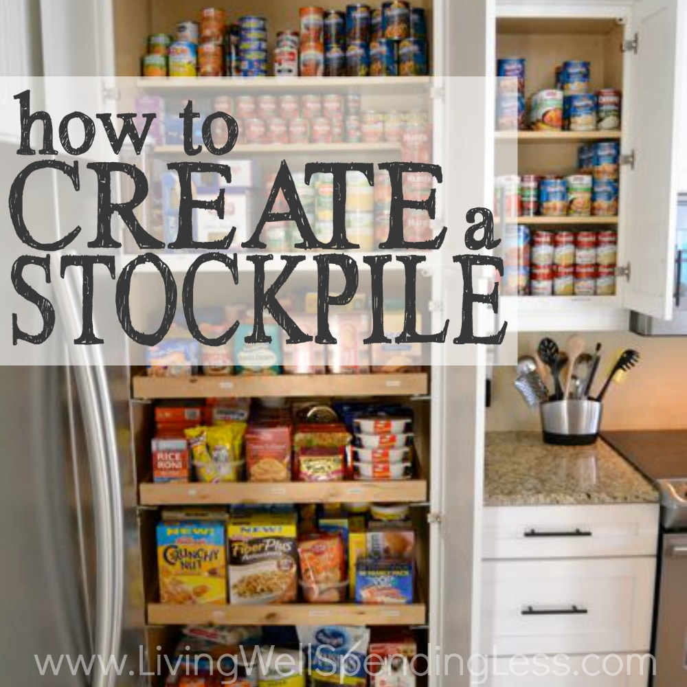 Your stockpile is your often-used foods and toiletries that you've purchased at rock-bottom prices. Learn how to create a stockpile!