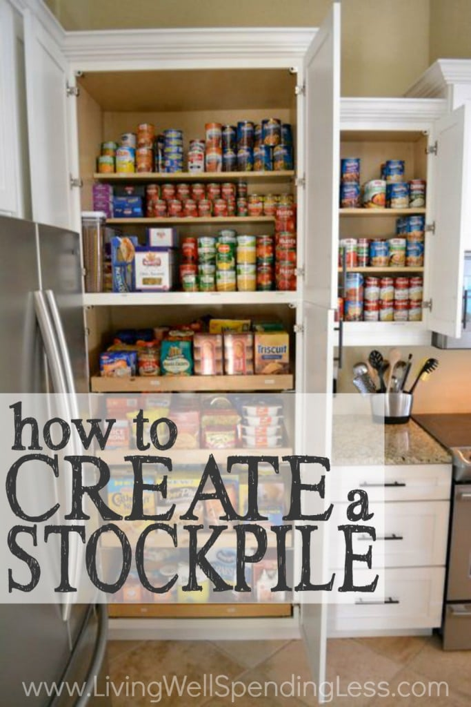 Create a Stockpile |DIY Stockpile | DIY Food Storage | Pantry Organization | Grocery Management | Food Couponing