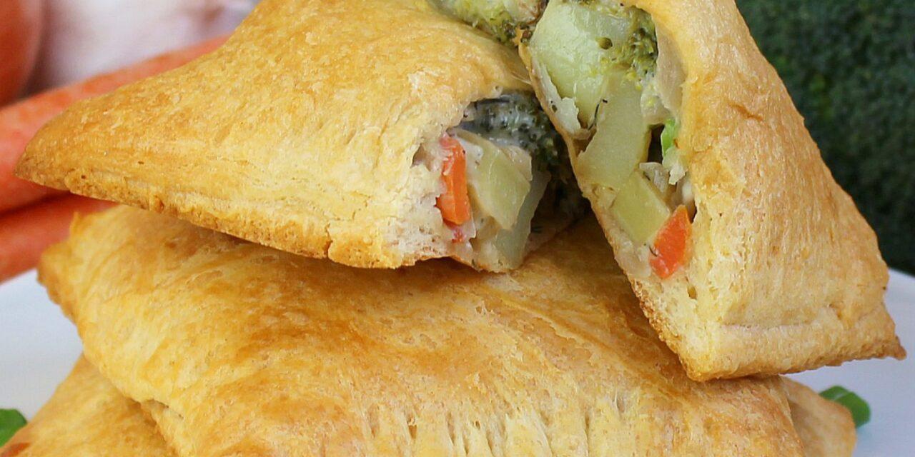 Roasted Vegetable Pot Pie Pockets