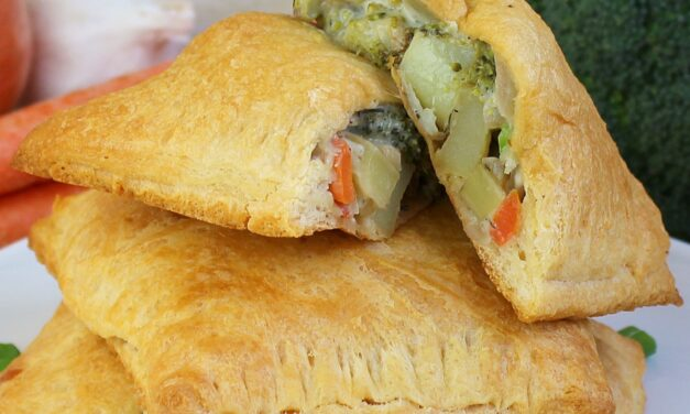Roasted Vegetable Pot Pie Pockets