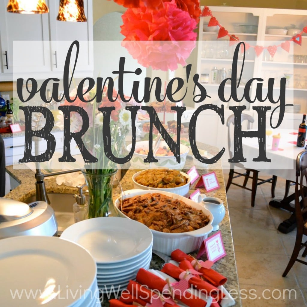 Brunch is relaxing with so much delicious food and drink. Having it on Valentine's Day is extra special!