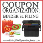 Coupon Organization Binder vs. Filing