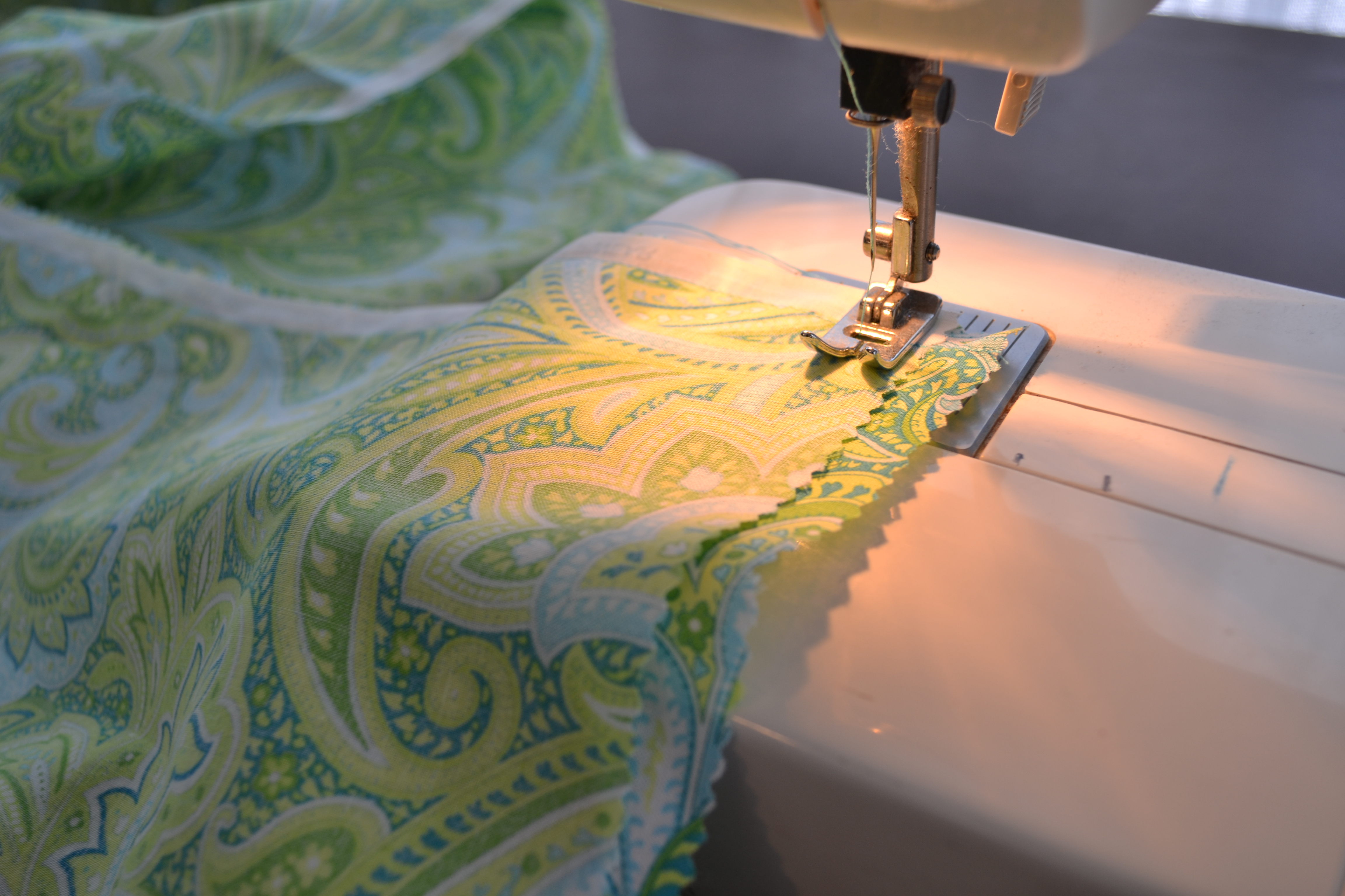 How to make a fabric table runner living well spending less sew the opposite sides together to form a long tube for your table runner watchthetrailerfo
