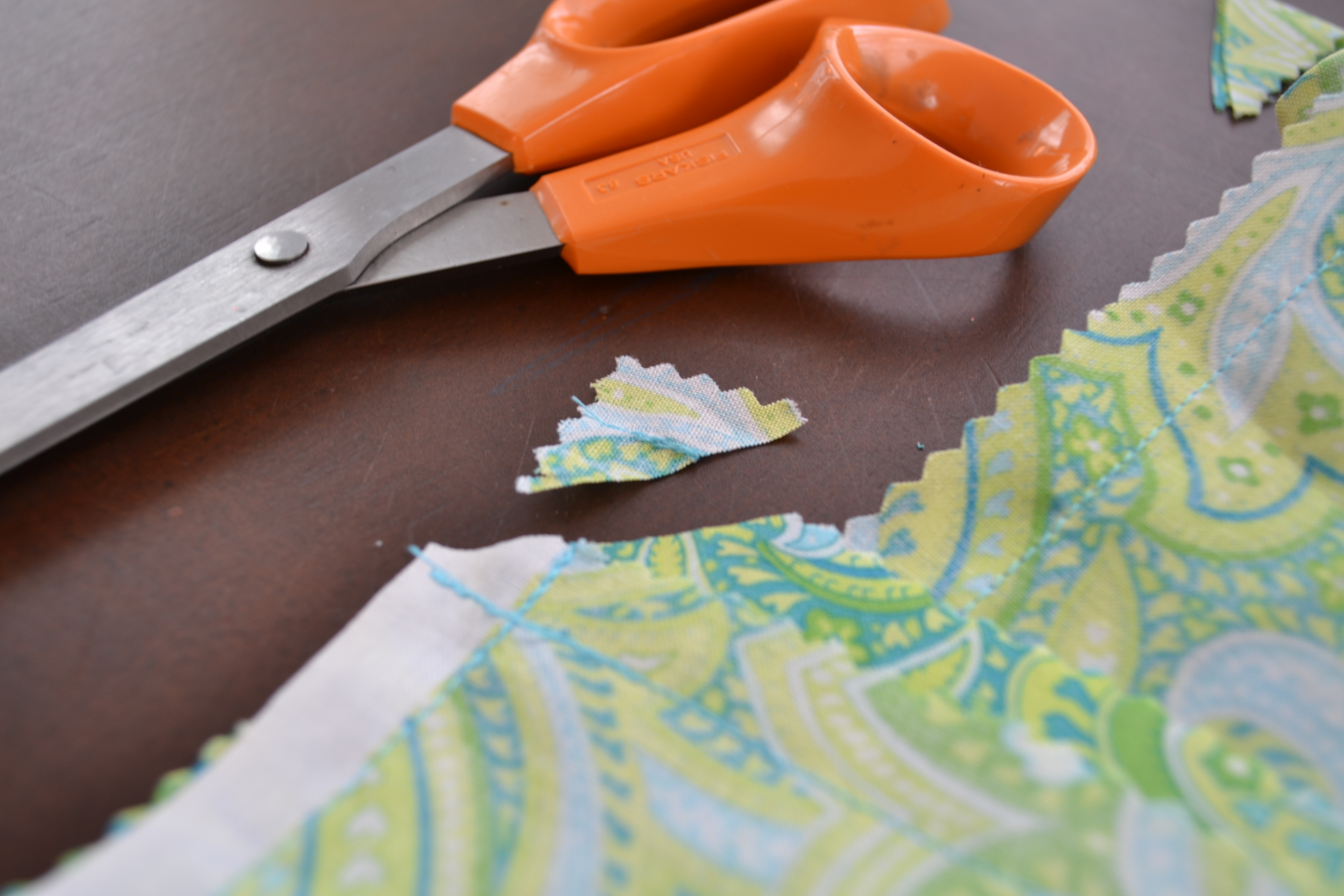 Snip The Corners Of The Fabric With Scissors, So Your Table Runner Will  Stay Flat