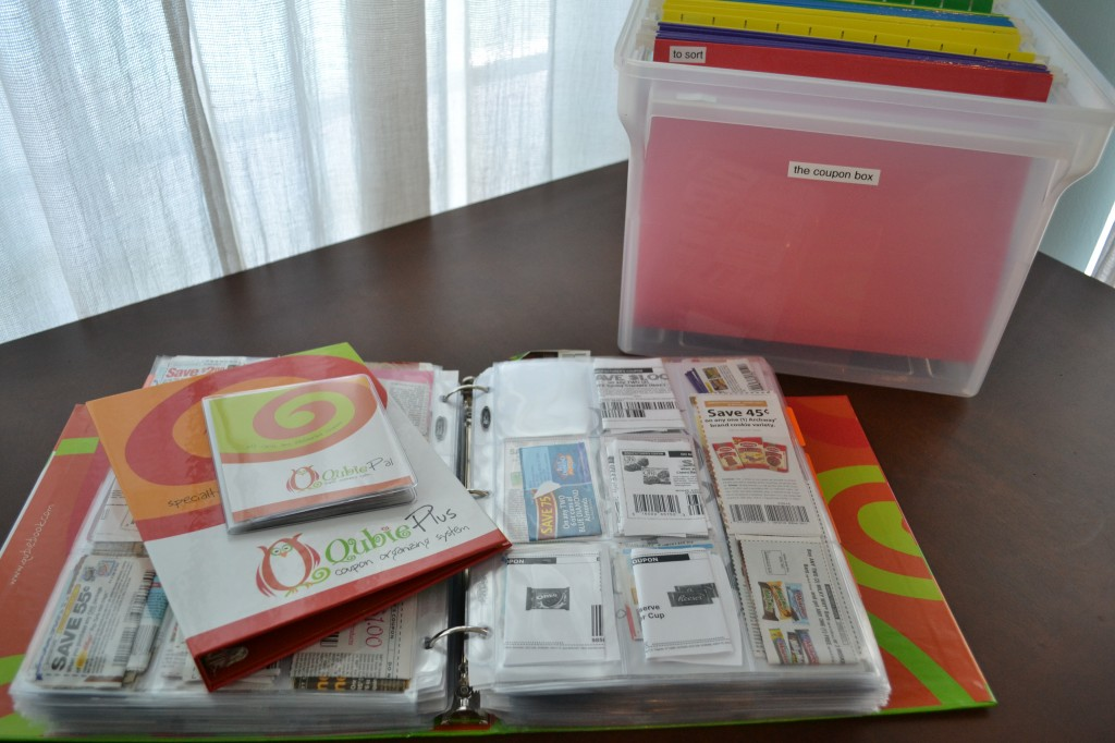 Extreme couponing is all about organization using folders and binders.