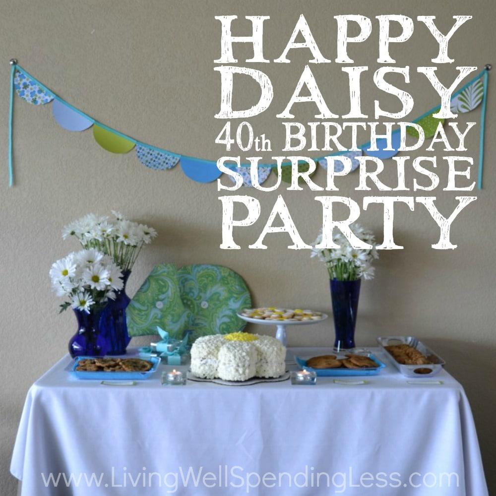 Happy Daisy Party Square