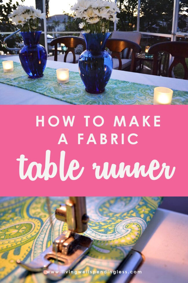 Want to create the perfect party table without spending a ton of money? This easy DIY tutorial will show you how to make a fabric table runner for less!