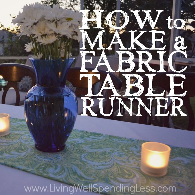 DIY Fabric Table Runner | Handmade Fabric Table Runner | Table Runner Ideas | DIY No Sew Table Runner | Easy Home DIY Project