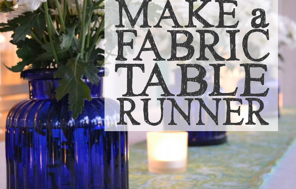 How to Make a Fabric Table Runner