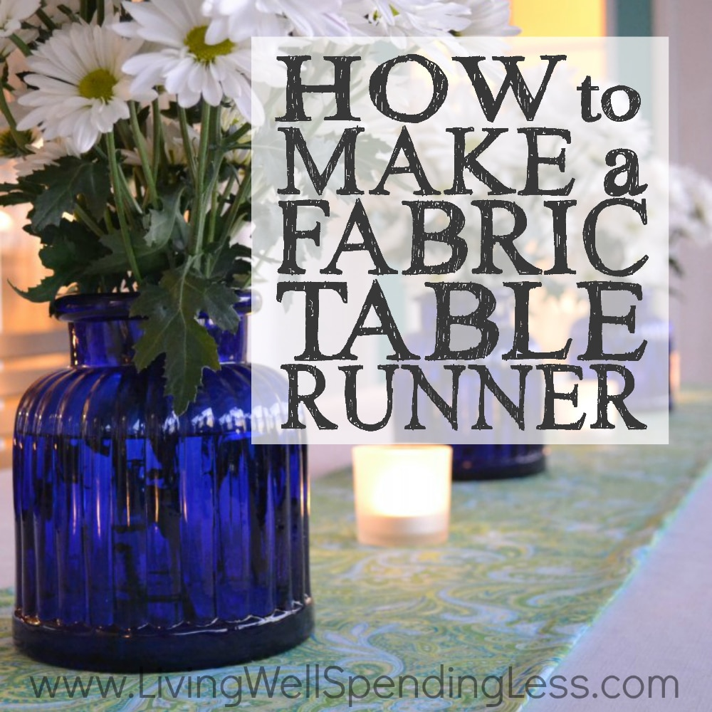 how to make a fabric table runner easy sewing tutorial. Black Bedroom Furniture Sets. Home Design Ideas