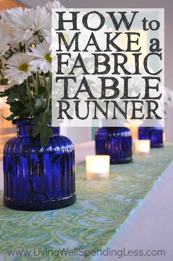 How to Make a Fabric Table Runner Vertical