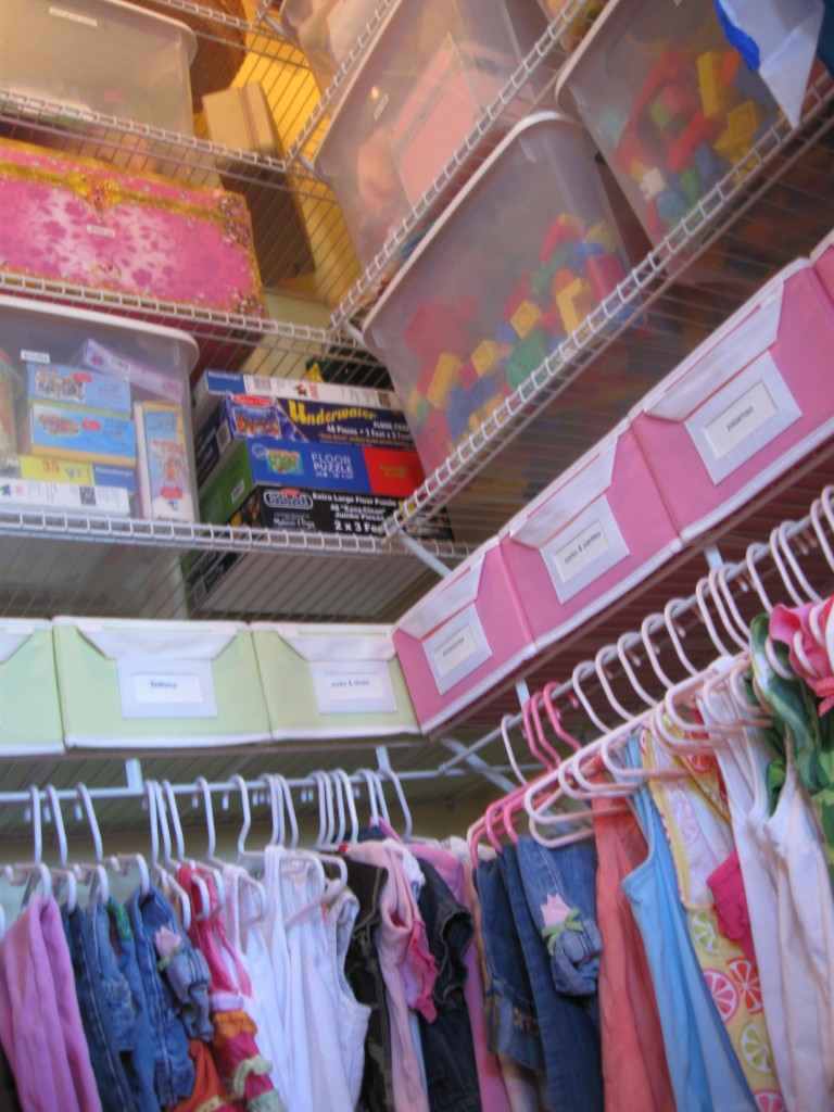 Organize your kid's closet using containers, hangers, and smart storage space so every item has a place.