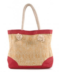 amy kathryn Gold Carnation Tote