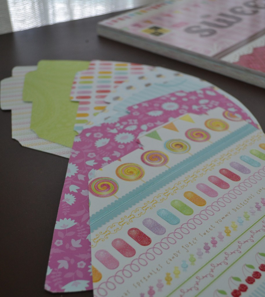 With DIY party hats the patterns and colors are endless. Use any scrapbook paper you have!