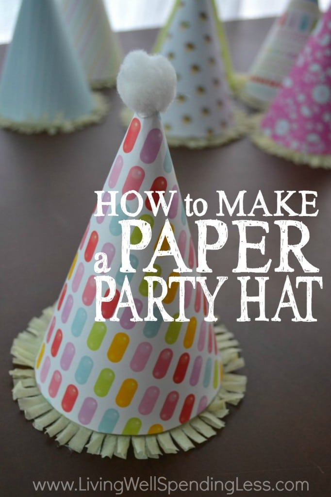 How to make a paper party hat: the DIY instructions for your next birthday party!