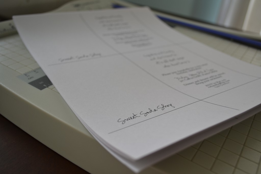 Set your printed cardstock aside in a pile.