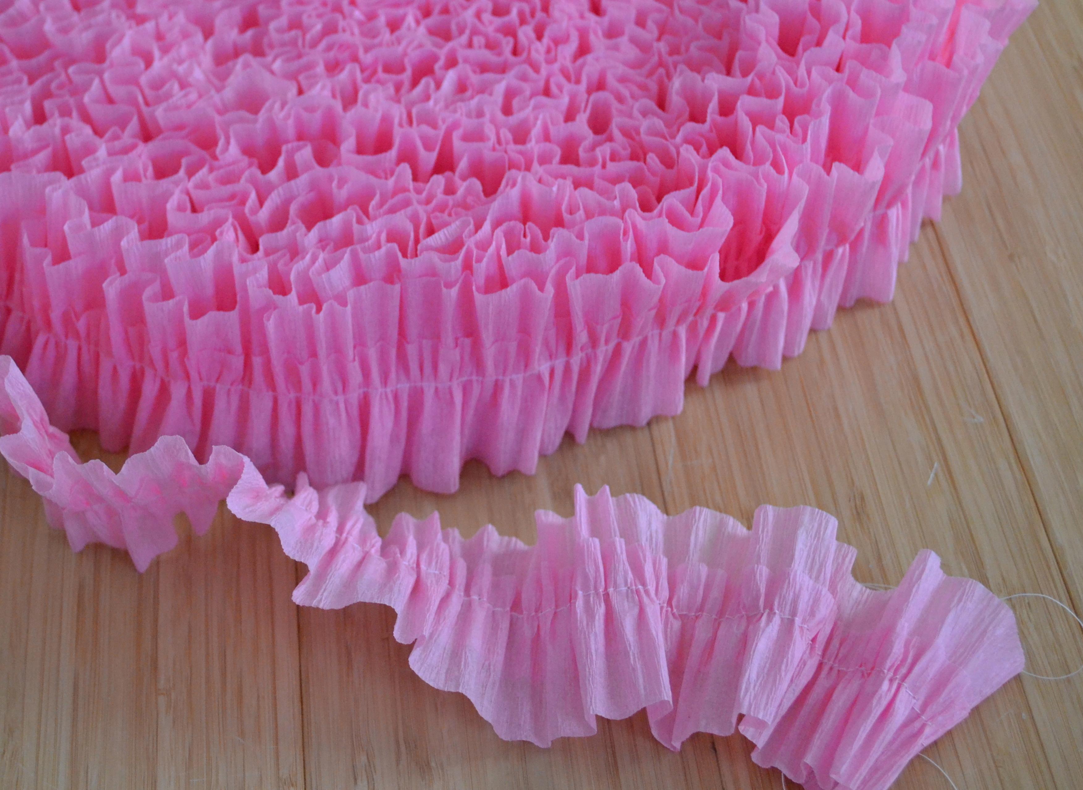 How To Make Ruffled Crepe Paper Living Well Spending Less
