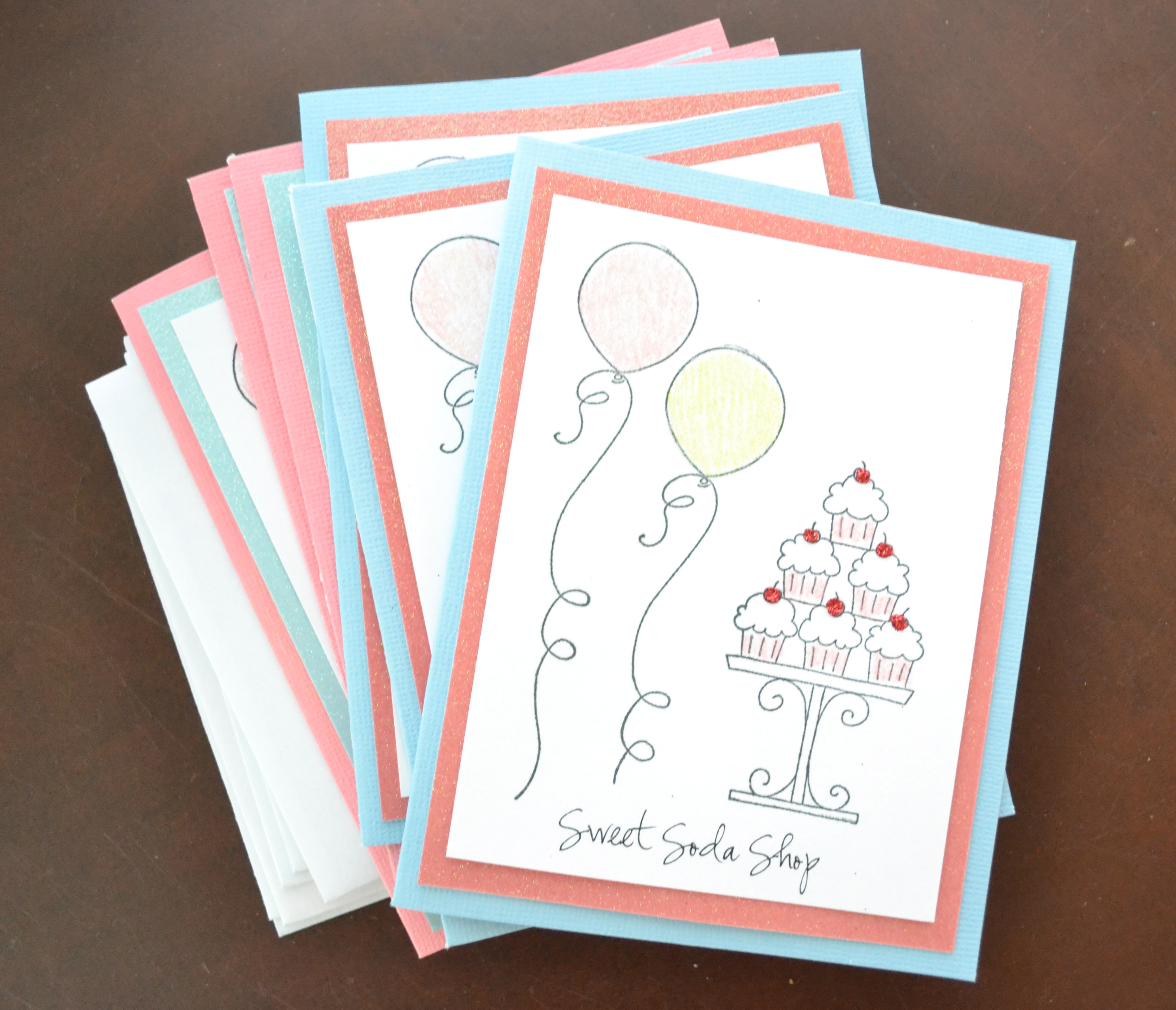 hand stamped party invitations - Living Well Spending Less®