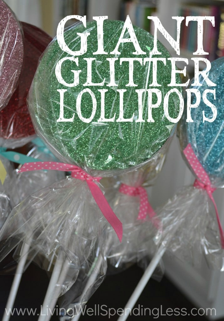 Giant Glitter Lollipops Vertical