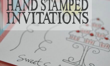 How to Make Hand Stamped Invitations
