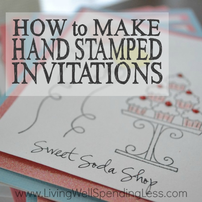 how to make hand stamped invitations living well spending less