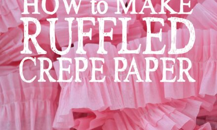 How to Make Ruffled Crepe Paper
