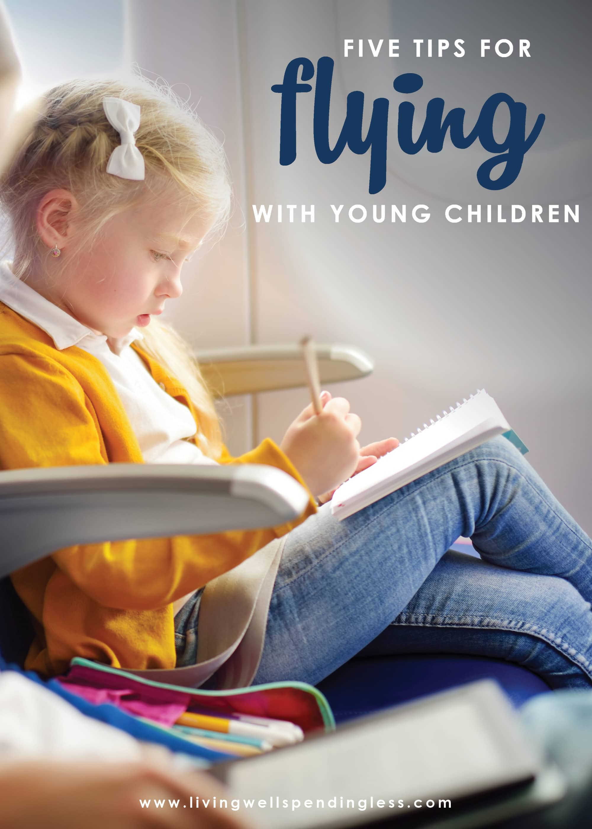 While traveling with kids is definitely an adventure, it doesn't have to be a disaster! Don't miss these 5 tips for flying with young children--it's a must-read for every mom!