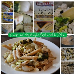 Roasted Vegetable Pasta with Feta #recipe